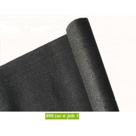 Filet brise-vue occultant  rouleau de 50m de ht 2m Noir