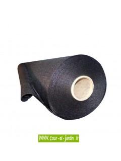 Brise vue tissé noir,  rouleau de 50m - brise vue noir 2m