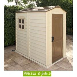 Abri de jardin PVC 4x6 WoodStyle Premium 118x173