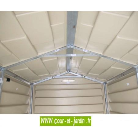 Abri de jardin PVC 4x6 WoodStyle Premium structure intérieure