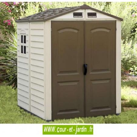 Abri de jardin PVC 6x6 WoodStyle