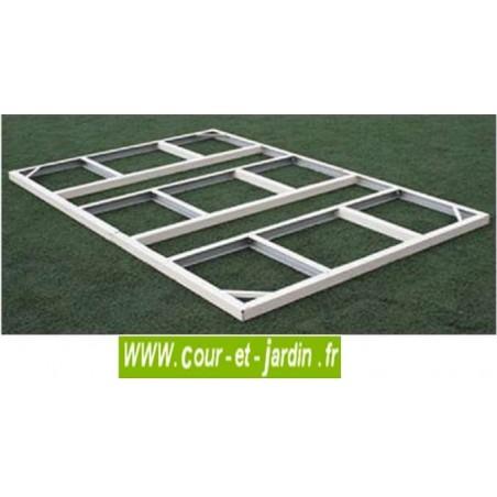 Abri de jardin PVC 8x6 WoodStyle - kit fondation