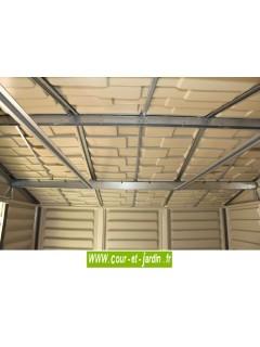 Abri de jardin PVC 8x6 WoodStyle - structure intérieure