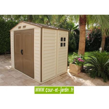 Abri de jardin PVC 8x6 WoodStyle 246x168cm