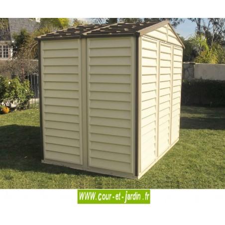 Abri de jardin PVC 8x6 WoodStyle vue arrière
