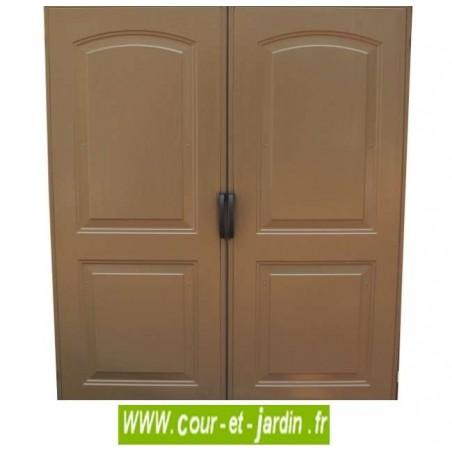 Abri de jardin PVC 8x6 WoodStyle zoom portes