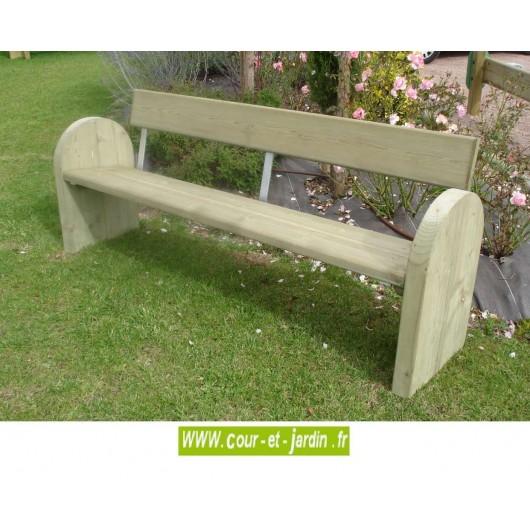 Banc de jardin bois mobilier de jardin r sistant achat pas cher - Banc en bois avec dossier ...