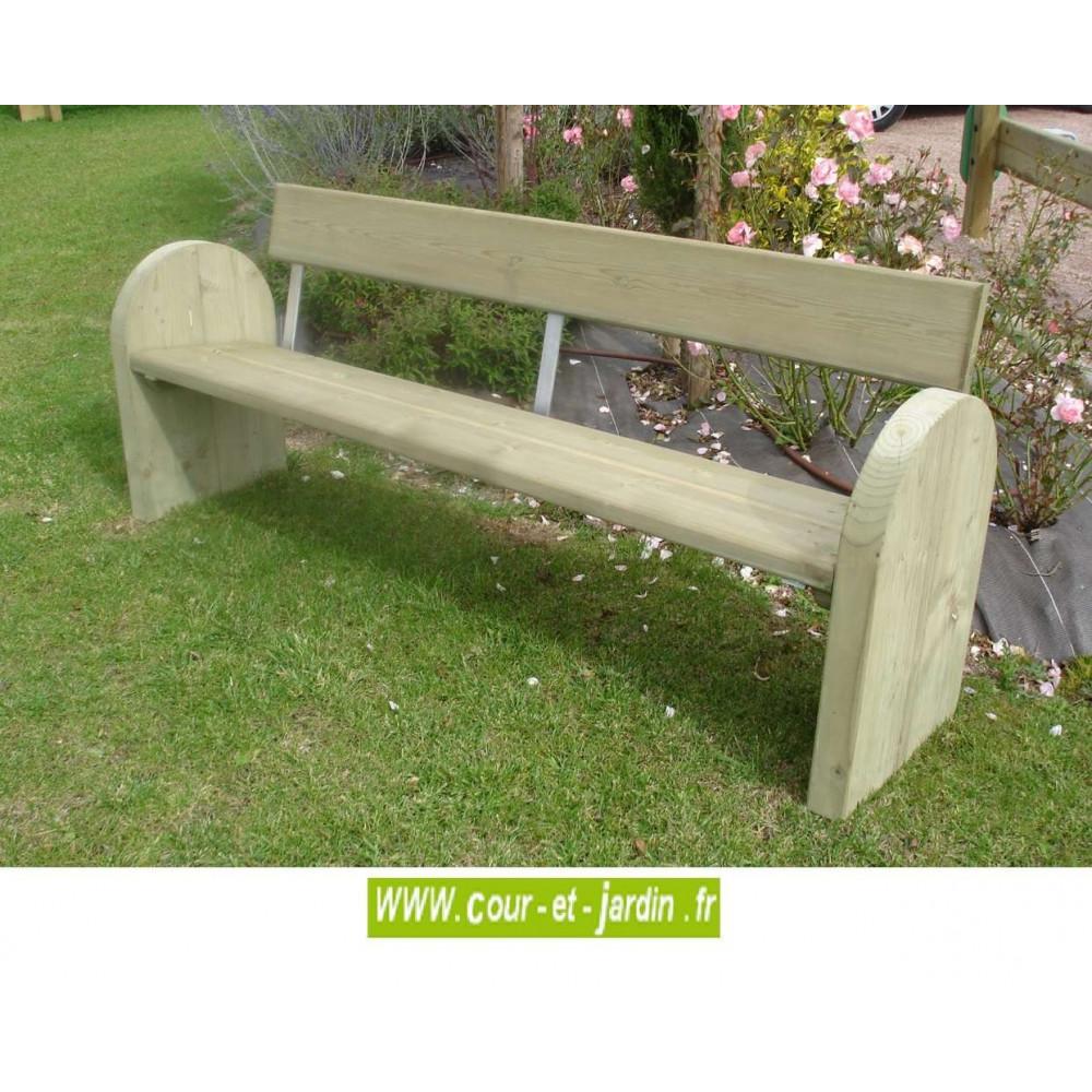 banc avec dossier exterieur banc en bois ext rieur. Black Bedroom Furniture Sets. Home Design Ideas