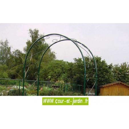 arche de jardin double pergola d corative en m tal. Black Bedroom Furniture Sets. Home Design Ideas