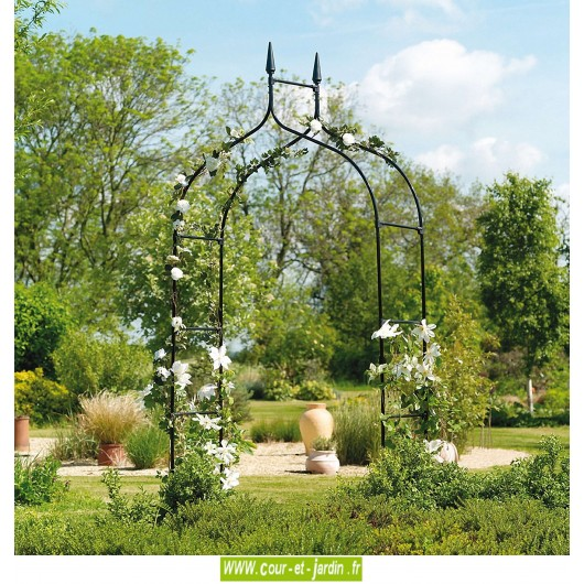 arche de jardin gothic deluxe pergola en m tal. Black Bedroom Furniture Sets. Home Design Ideas