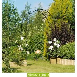 Arche métallique jardin EASY ARCH - Pergola décorative en métal - Arceau jardin.