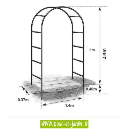 arche de jardin fer arceau m tal pergola de jardin arche decorative. Black Bedroom Furniture Sets. Home Design Ideas