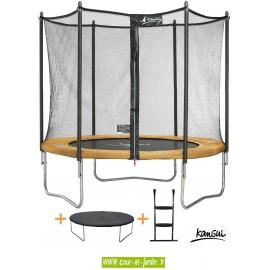 Ce trampoline FUNNI POP 300 de Kangui ou trampoline extérieur, se monte très facilement.