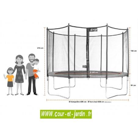 trampoline funni pop 430 kangui. Black Bedroom Furniture Sets. Home Design Ideas