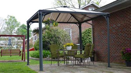 Tonnelle alu 3x3 couv 39 terrasse tonnelle terrasse aluminium for Auvent maison permanent